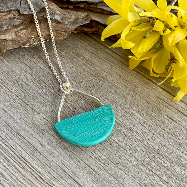 Basket Necklace ~ Spring Colors