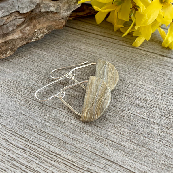 Basket Earrings ~ Sand