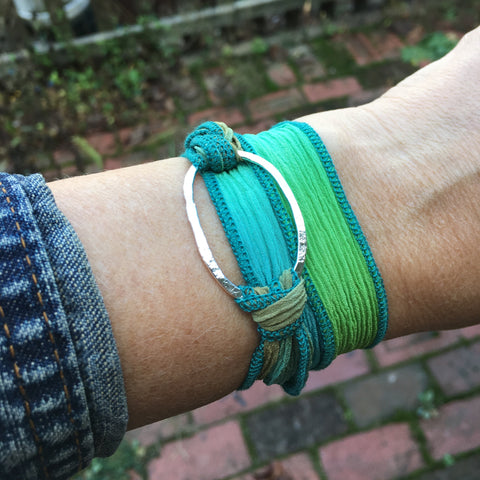 Riverstone Wrap Bracelet ~ Shiny