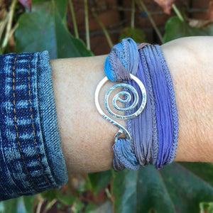 Swirly Wrap Bracelet ~ Shiny