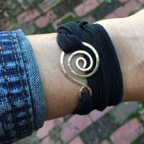 Swirly Wrap Bracelet ~ Goldfilled