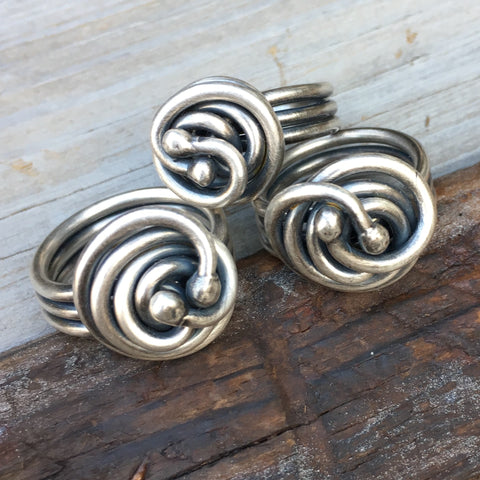 Pretzel Rings ~ Oxidized