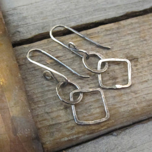 Opposites Attract Earrings ~ Oxidized