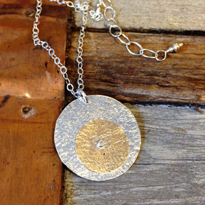 Two Tone Rivet Necklace ~ Shiny
