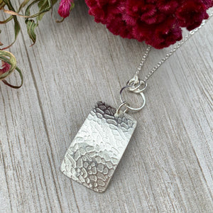 Sea Fan Necklace ~ Sterling Silver