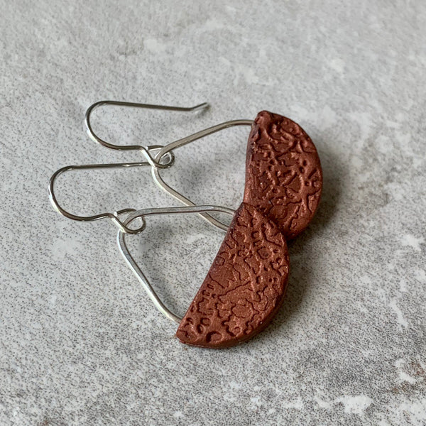 Basket Earrings ~ Copper