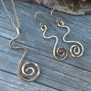 Swirl Necklace ~ Goldfilled