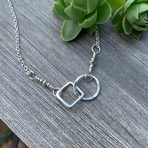 Opposites Attract Necklace ~ Shiny