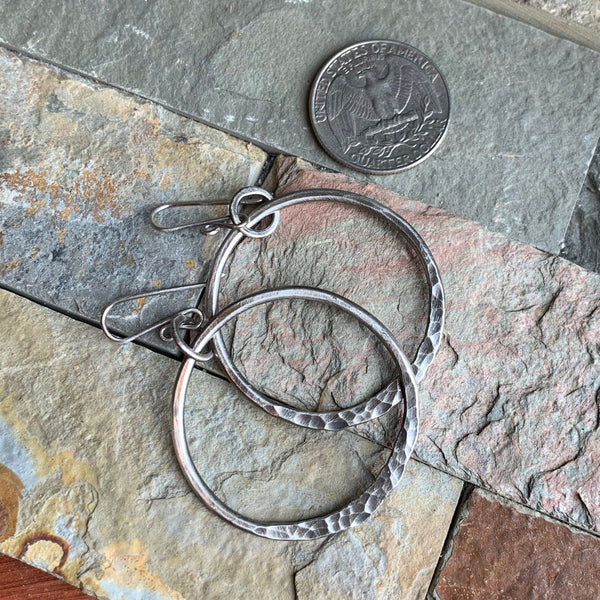 Ring of Fire Earrings ~ Oxidized