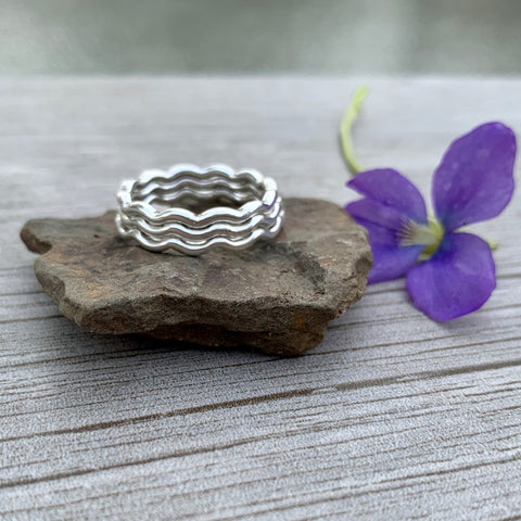 Wavy Stack Rings