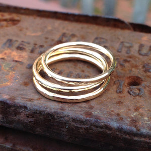Hammered Stack Rings ~ 14kt Goldfilled