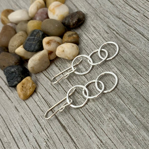 Three Ring Circus Earrings ~ Shiny