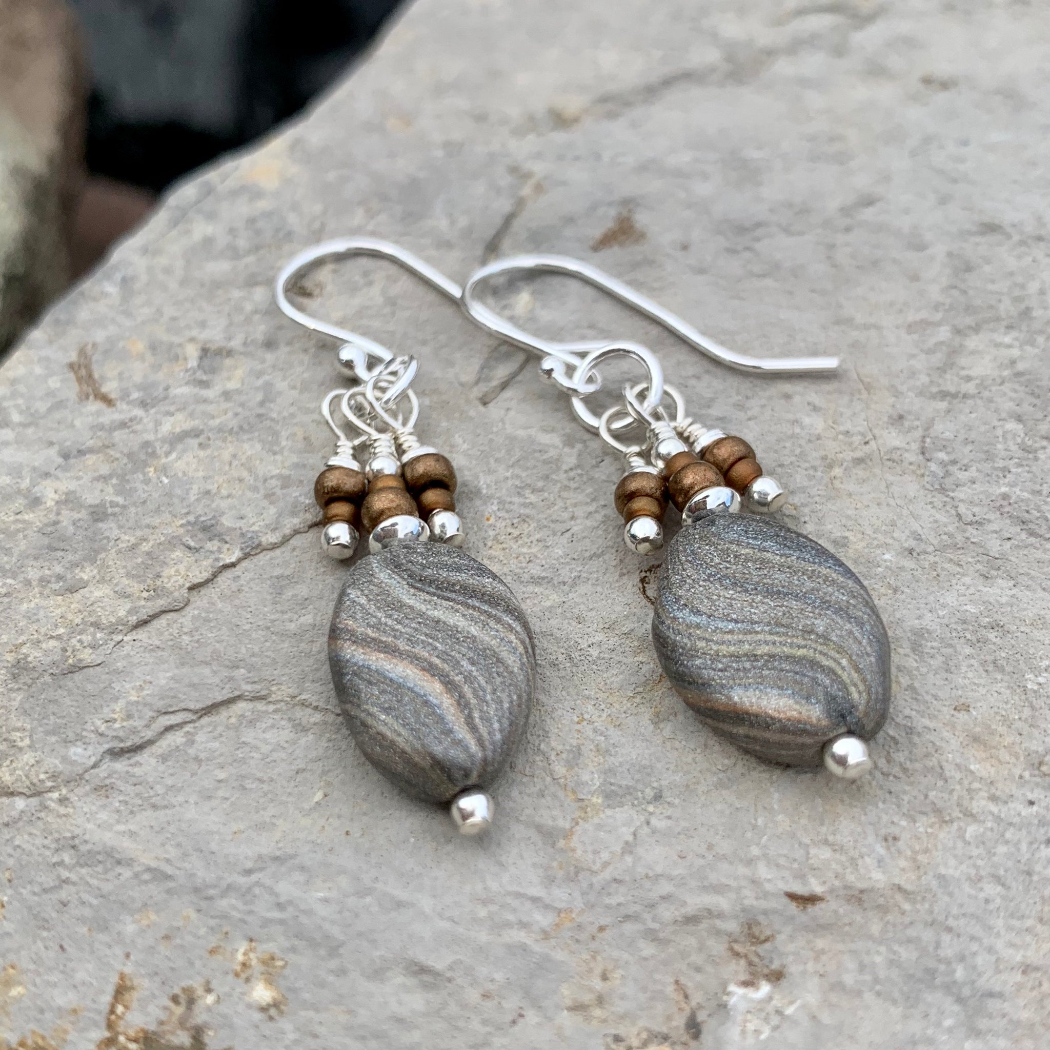 Desert Sand Teardrop Earrings