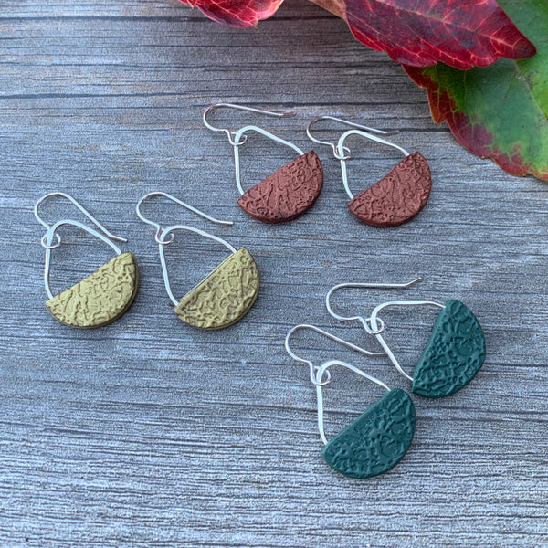 Basket Earrings ~ Green