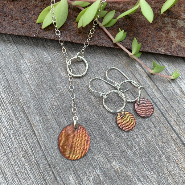 Through the Loop Earrings ~ Copper