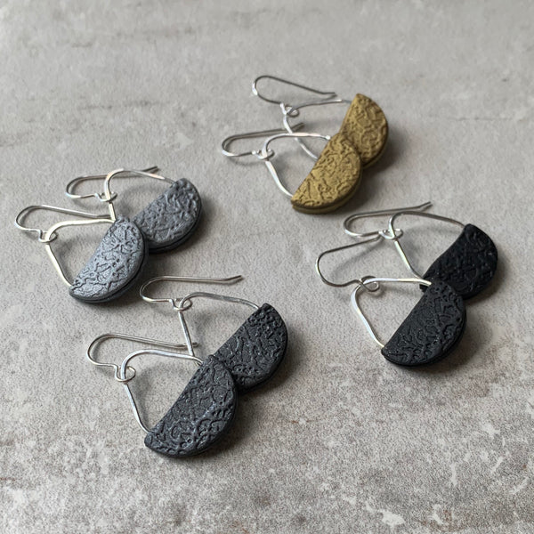 Basket Earrings ~ Silver