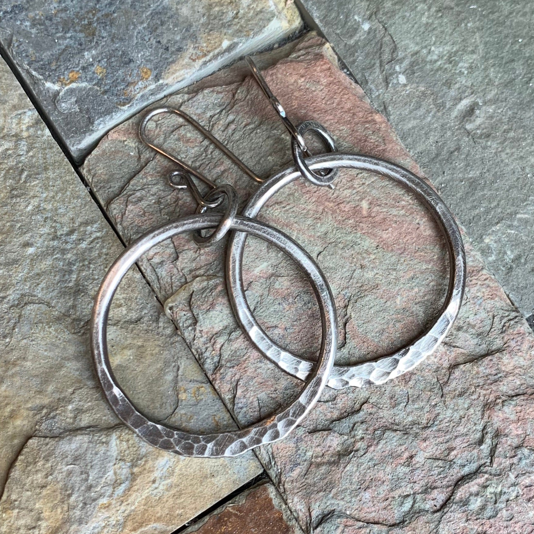 Ring of Fire Earrings ~ Medium Oxidized