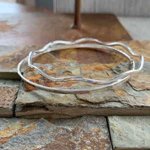 Hammered Bangle Bracelet