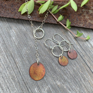 Through the Loop Necklace ~ Copper