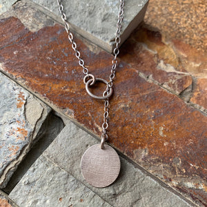 Through the Loop Necklace ~ Sterling