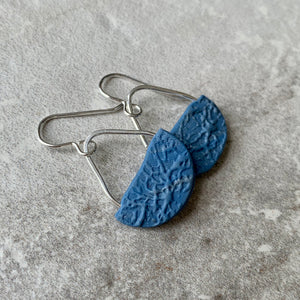 Basket Earrings ~ Blue