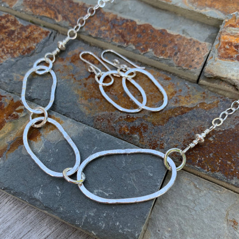 Riverstone Trio Necklace