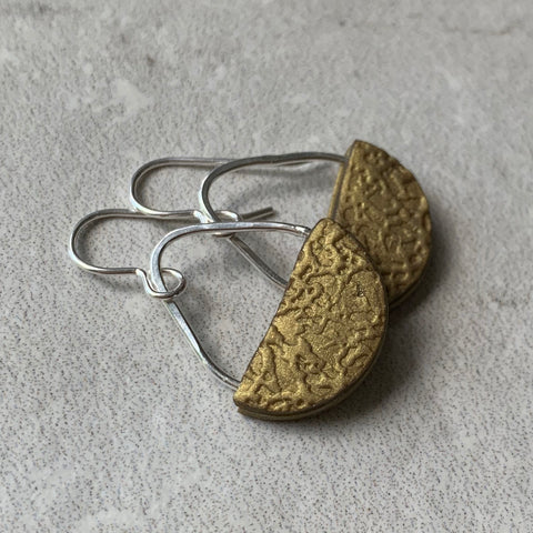 Basket Earrings ~ Gold