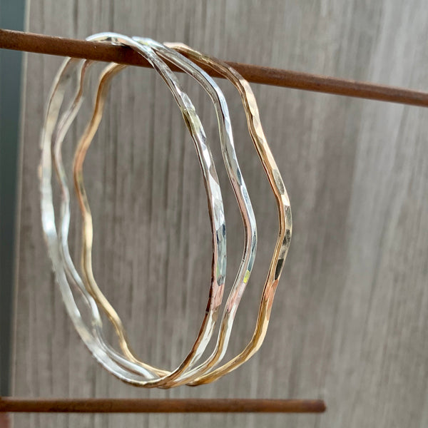 Wavy Bangle ~ Goldfilled
