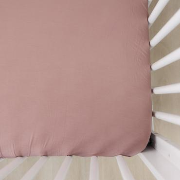Mebie Baby - Dusty Rose Stretch Crib Sheet