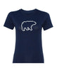 Ladies Black Bear T