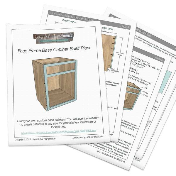 Face Frame Base Cabinet Woodworking Plans