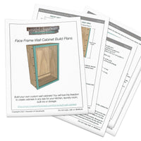 Face Frame Wall Cabinet Woodworking Plans