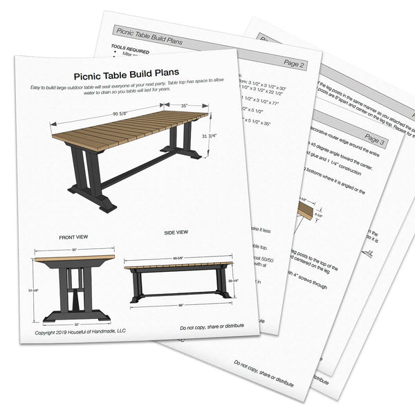 Modern Picnic Table Woodworking Plans