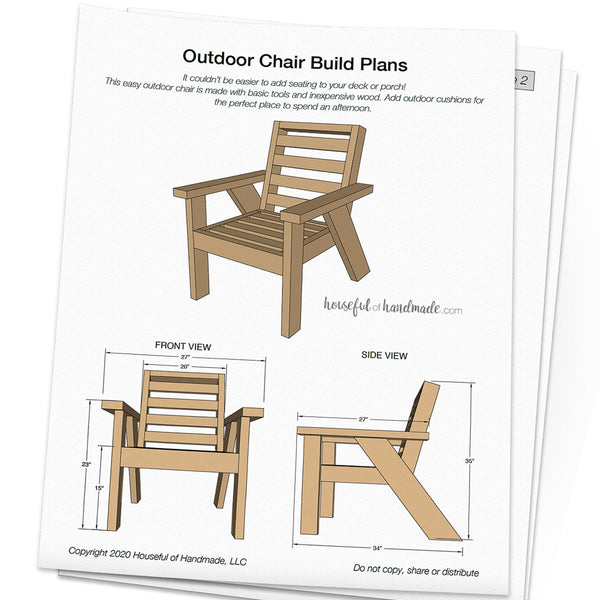 Outdoor Lounge Chair Woodworking Plans