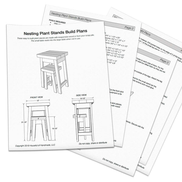 Nesting Plant Stands Woodworking Plans