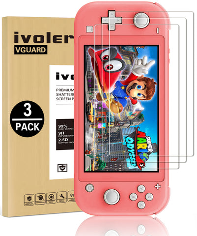 [3 Pack] Screen Protector Tempered Glass for Nintendo Switch Lite