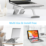 iVoler 2 in 1 Laptop Riser Stand with 6 Angles and 3 Folding Modes