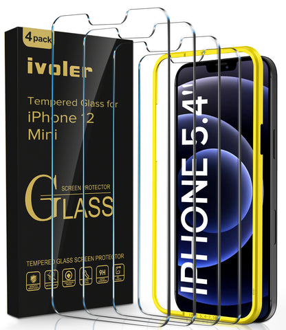 iVoler Tempered Glass Screen Protector for iPhone 12 Mini
