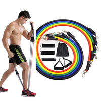 Eleven piece resistance bands set