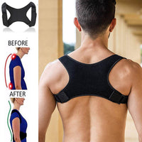 Unisex back support and posture corrector