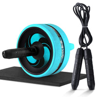 New 2 in 1 Ab roller with mat & jump rope