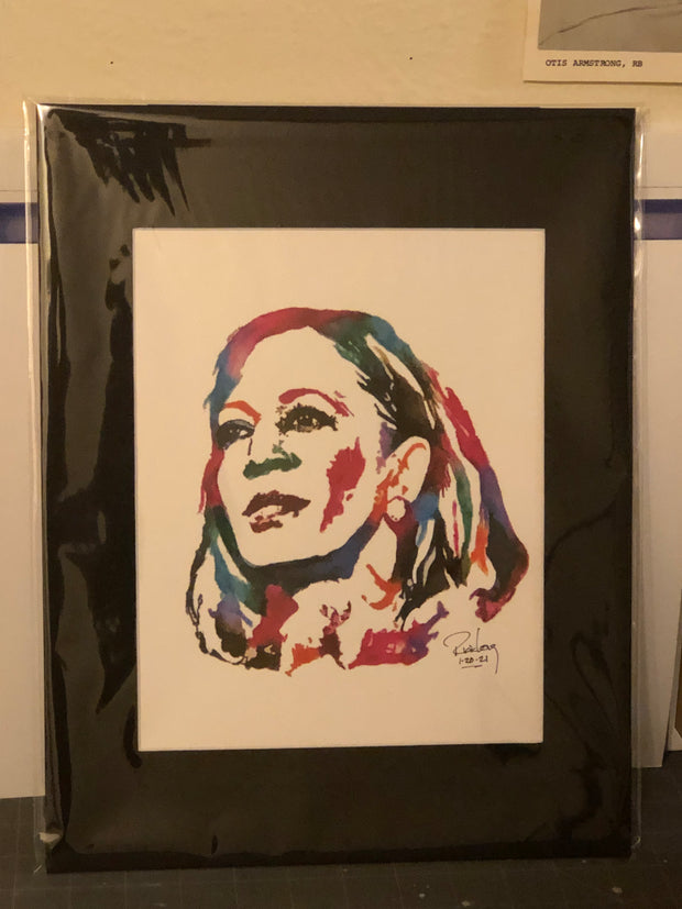 "HAND DRAWN Original Watercolor ""MVP"" featuring Kamala Harris! Available in 9x11, 11x14, 20x30 and 24X36 Prints as well!!"
