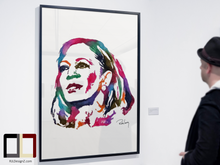 "Load image into Gallery viewer, HAND DRAWN Original Watercolor ""MVP"" featuring Kamala Harris! Available in 9x11, 11x14, 20x30 and 24X36 Prints as well!!"