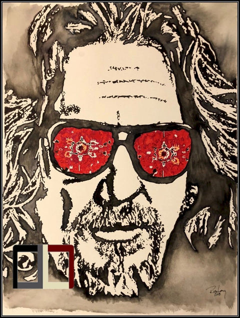 "HAND DRAWN Original Watercolor 18"" X 24"" art ""The Dude"" featuring The Big Lebowski!! Available in 9x11, 11x14, 20x30 and 24X36 Prints as well!!"