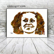 "Load image into Gallery viewer, HAND DRAWN Original Watercolor art ""FLOTUS Flower"" Available in 9x11, 11x14, 20x30 and 24X36 Prints as well!!"