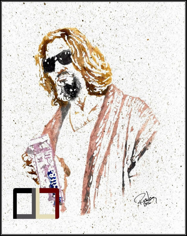 "HAND DRAWN Original Watercolor ""Ralph's"" The Big Lebowski! Available in 9x11, 11x14, 20x30 and 24X36 Prints as well!!"