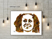 "HAND DRAWN Original Watercolor art ""FLOTUS Flower"" Available in 9x11, 11x14, 20x30 and 24X36 Prints as well!!"