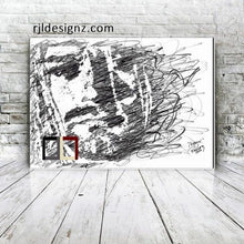 "Load image into Gallery viewer, HAND DRAWN Original Watercolor art ""Disconcerted"" featuring Kurt Cobain! Available in 9x11, 11x14, 20x30 and 24X36 Prints as well!!"