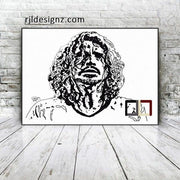 "HAND DRAWN Original Watercolor art ""Cornell-Unfinished"" featuring Chris Cornell!! Available in 9x11, 11x14, 20x30 and 24X36 Prints as well!!"
