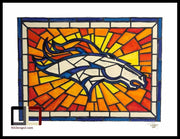 "HAND DRAWN 18"" X 24"" Original Watercolor ""Broncos Glass""! Available in 9x11, 11x14, 20x30 and 24X36 Prints as well!!"